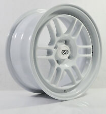 4pcs ENKEI RPF1 15inch RIMS WHEELS 7JJ 4X100 / 4X114.3 ET30 WHITE - 3