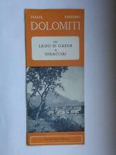 Vecchia Brochure LAGO DI GARDA GHIACCIAI Trentino Dolomiti