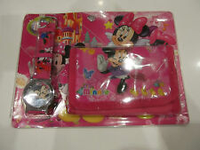 Minnie Mouse Wallet & Watch Set NEW in Packet Pink/Multi Colour