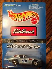 1996 Hot Wheels Limited Edition Edelbrock 63 Corvette Sting Ray with Real Riders