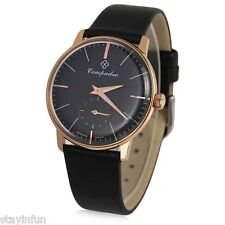 Compadre 8012G Male Seagull Mechanical Leather Band Luminous Pointer  Wristwatch