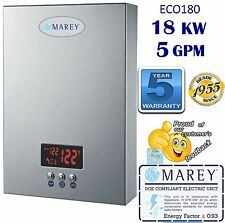 ECO180 Electric Tankless Water Heater 5GPM Instant 18 KW 220V Whole House Marey