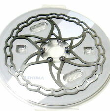 gobike88 The World's Lightest ASHIMA Ai2 Disc Rotor, 180mm, 102g, Silver, R05