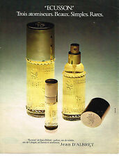 PUBLICITE ADVERTISING 064  1973  JEAN D'ALBRET  ECUSSON eau de Cologne parfum