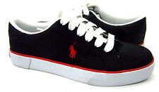 Polo Ralph Lauren Shoes Harold Canvas Black Sneakers Size 7.5 EUR 40.5