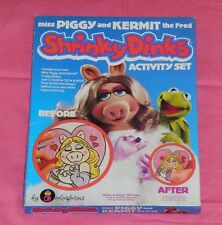 vintage MISS PIGGY AND KERMIT THE FROG SHRINKY DINKS MISB sealed The Muppets
