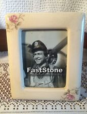 Vintage Ceramic Victorian Style Rose Photo Frame 3 1/2 x 5  c.1940's - 1950's