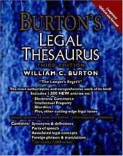Burton's Legal Thesaurus, 3rd Edition-ExLibrary