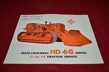 Allis Chalmers HD-6G Crawler Tractor Loader Dealer Brochure YABE11 ver53