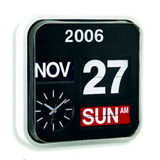 Large Number Wall Hanging Flip Clock / Calendar - Low Vision, Battery Operated