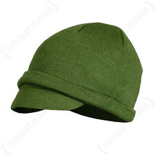 Italian Army Olive Green JEEP CAP - One Size Unissued US Style Winter Beanie Hat