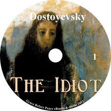 The Idiot, Fyodor Dostoyevsky Audio Book Vols. 1-4 on 2 MP3 CDs Free Shipping