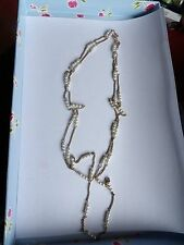 SARAH COVENTRY (COV) DESIGNER TWIN STRAND LONG FAUX PEARL CHAIN  NECKLACE 543-29