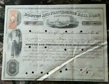 1871 Boston & Providence Railroad Stock Certificate - 4 shares