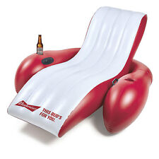 New AUTHENTIC BUDWEISER Pool Float Raft CHAIR Flag Bud Light Lime Beach Busch