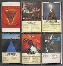 Lot 6 Cassettes MEAT LOAF JUDAS PRIEST GEOR THOROGOOD URIAH HEEP REO SPEEDWAGON