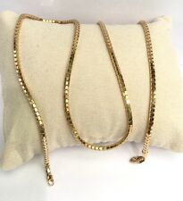 "18k Solid Yellow Gold Shiny Unisex Italy Snake Chain Necklace, 22"", 11.50 Grams"