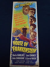 HOUSE OF FRANKENSTEIN 1944 * BORIS KARLOFF * LON CHANEY * 14x36 UNIVERSAL HORROR