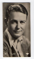 Swedish Marabou Ergo-Cacao Chocolate Film Star card circa 1930 #95 Lew Ayres