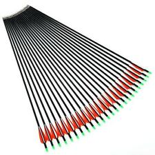 """6x 30"""" Archery Carbon Fiber Arrows Field Points  For Hunting Target Recurve Bows"""