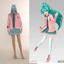 Vocaloid Miku Project DIVA-F SCHOOL Uniform Hatsune Cosplay Costume Entire Set
