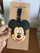 disney Mickey head silica gel luggage tags Baggage  travel tags cute