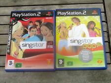 lot 2 jeux PS2 SINGSTAR - Pop London et NRJ Music TOur - Complet en VF