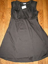 NEW Motherhood Oh Baby maternity womens large black dress sleeveless adorable!
