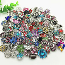 Random 20 PCS Drill Snaps Chunk Charm buttons Fit For Noosa Bracelet Pendant O15