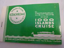 VINTAGE CANADA-ST.LAWRENCE RIVER-1000 ISLANDS CRUISE WITH 10 SOUVENIR PHOTOS