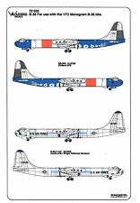 Warbird B-36 Peacemaker Decals 1/72 033, Kirkland Research, Castle AFB