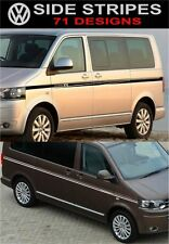 Vw t5 volkswagen t5 transporteur caravelle side stripes decals stickers