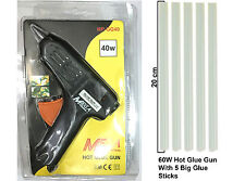 Mega 40W Multi Purpose Hot Melt Glue Gun (with 2 small and 5 Big Glue Sticks)