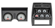 1978-82 Chevy Corvette Silver Alloy & Red Dakota Digital VHX Analog Gauge Kit