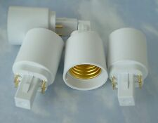 FOUR PACK Adapters to Use E27/E26 Light Bulbs in a G24- 4 PIN fixture base