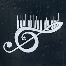 Music Treble Clef Piano Keys Car Graphic Decal Vinyl Adhesive Sticker