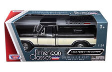 1979 FORD F-150 TRUCK BLACK/CREAM PICKUP 1/24 DIECAST MODEL BY MOTORMAX 79346BLK