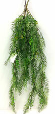 "PVC Pepper Berry Leaf Hanging Bush. 30"" Long.  Green"