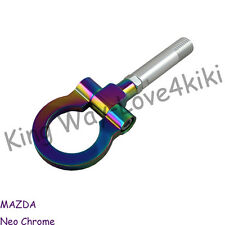 NEW NEO CHROME RACING TOW TOWING HOOK SCREW ALUMINUM T2 FOR MAZDA 2 5 6 RX-8 CNC