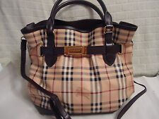BURBERRY Haymarket Check Medium Golderton Tote