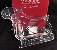 Waterford Marquis Merry Christmas Lead Crystal Sleigh Dish Candy Decor Germany