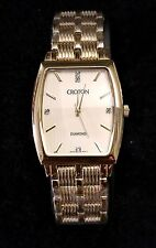 MEN'S CROTON DIAMOND QUARTZ WATCH JAPAN MOVEMENT