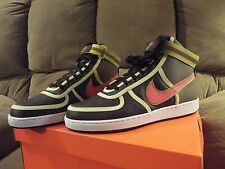 RARE Nike Vandal High Leather Dark Army Green Flamingo Pink Pilgrim  size 10 sb