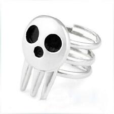 1pcs New Cute Soul Eater Death The Kid Rings Silver For Anime Cosplay BDRG