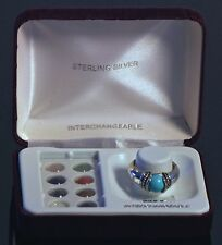 Sterling Silver 925 LA Ring Interchangeable Stones Size 8 19mm 1193 Q