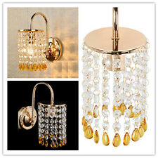 Modern Indoor Crystal Wall Fixtures Bedroom BedSide Lamp Sconce Lights Gold