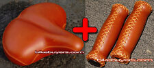 Velo MF seat + grip kit - Brown, for Beach Cruiser Bikes Bicycles Saddle