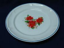 JMP Marketing Stoneware Christmas Dinner Plate, Provincial Bouquet, Poinsettias