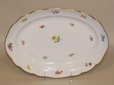 Meissen Scattered Flowers China 14 x 10 Inch Oval Serving Platter