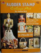 """Rubber Stamp Collage Art"" Craft Instruction Book ~ 19 Unique Projects to Create"
